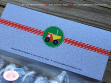 Load image into Gallery viewer, Construction Birthday Party Treat Bag Toppers Folded Favor Vehicles Boy Girl Truck 1st 2nd 3rd 4th 5th Boogie Bear Invitations Russell Theme