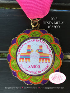 2018 2019 Fiesta Medal Boogie Bear Invitations #Viva Fiesta #SA300 Celebrating 10 Years In Business San Antonio Cinco de Mayo Glitter Pin