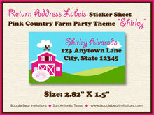 Load image into Gallery viewer, Pink Farm Animals Birthday Party Invitation Country Barn Girl Petting Zoo Boogie Bear Invitations Shirley Theme Paperless Printable Printed