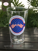 Load image into Gallery viewer, 4th of July Party Beverage Cups Plastic Drink Stars Stripes Red White Blue Flag America Reunion 1st Boogie Bear Invitations Hamilton Theme