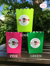 Load image into Gallery viewer, Lucky Charm Popcorn Boxes Mini Food Buffet Birthday Party Pink Green Shamrock St. Patricks Day 1st 2nd Boogie Bear Invitations Eileen Theme