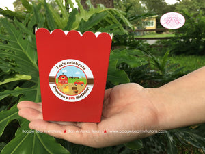 Farm Pumpkin Party Popcorn Boxes Mini Favor Food Birthday Boy Girl Barn 1st 2nd 3rd 4th 5th 6th 7th Boogie Bear Invitations Donovan Theme