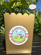 Load image into Gallery viewer, Valentines Day Woodland Birthday Popcorn Boxes Mini Food Buffet Party Love Pink 1st 2nd 3rd 4th 5th 6th Boogie Bear Invitations Amelie Theme