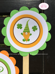 St. Patrick's Day Gnomes Party Cupcake Toppers Birthday Boy Girl Lucky Green Orange 1st 2nd 3rd 4th Boogie Bear Invitations Tristan Theme