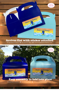 Surfer Shark Birthday Party Treat Boxes Favor Ocean Swimming Boy Girl 1st 2nd 3rd 4th 5th 6th 7th 8th Boogie Bear Invitations Xander Theme