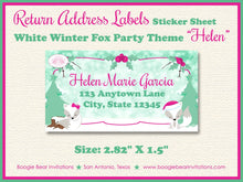 Load image into Gallery viewer, Woodland Holiday Fox Baby Shower Invitation Winter Christmas Snow Pink Girl Boogie Bear Invitations Helen Theme Paperless Printable Printed