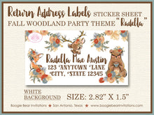 Load image into Gallery viewer, Fall Fairy Pumpkin Birthday Party Invitation Woodland Magic Tea 1st 2nd 3rd 4th 5th 6th 7th Boogie Bear Invitations Printed Radella Theme