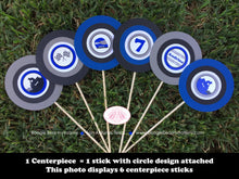 Load image into Gallery viewer, ATV Birthday Party Centerpiece Stick Set Blue Black Boy Girl 1st 2nd 3rd 4th 5th 6th 7th 8th 9th 10th Boogie Bear Invitations Audrina Theme