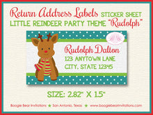 Load image into Gallery viewer, Christmas Reindeer Birthday Party Invitation Photo Girl Boy 1st 2nd 3rd Boogie Bear Invitations Rudolph Theme Paperless Printable Printed