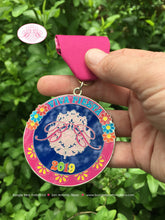 Load image into Gallery viewer, 2018 2019 Fiesta Medal Boogie Bear Invitations #Viva Fiesta #SA300 Celebrating 10 Years In Business San Antonio Cinco de Mayo Glitter Pin