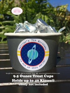 Outer Space Party Treat Cups Food Buffet Paper Birthday Planets 1st 2nd 3rd 4th 5th 6th 7th 8th 9th Boogie Bear Invitations Galileo Theme