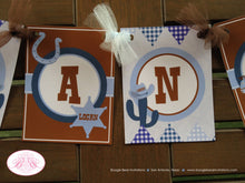 Load image into Gallery viewer, Wild West Cowboy Birthday Party Banner Hat Blue Lasso Boy Name Age Sheriff 1st 2nd 3rd 4th 5th 6th 7th Boogie Bear Invitations Logan Theme