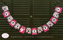 Load image into Gallery viewer, ATV Happy Birthday Party Banner Racing Teen Adult Trail Pink Black Girl 1st 6th 7th 8th 9th 10th Age Boogie Bear Invitations Angela Theme