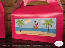 Load image into Gallery viewer, Pink Pirate Girl Birthday Party Treat Boxes Favor Tags  Ship Island Tropical 1st 5th 6th 7th 8th 9th Boogie Bear Invitations Angelica Theme