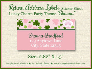 St. Patrick's Birthday Party Invitation Photo Shamrock Girl Pink 1st 2nd Boogie Bear Invitations Shauna Theme Paperless Printable Printed