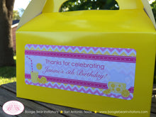 Load image into Gallery viewer, Pink Lemonade Party Treat Boxes Favor Tags Bag Birthday Box Yellow Chevron Girl 1st 2nd 3rd 4th 5th 6th Boogie Bear Invitations Janine Theme