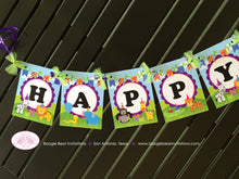 Load image into Gallery viewer, Wild Zoo Animals Happy Birthday Banner Boy Girl Safari Jungle Party Tiger Lion Zebra 1st 2nd 3rd 4th Boogie Bear Invitations Cassidy Theme