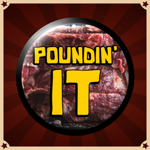 """Poundin' It"" Button"
