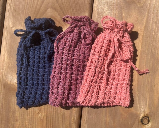 Hand Knit Soap Satchel