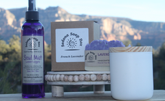 French Lavender Candle, Soap and Soul Mist Bundle