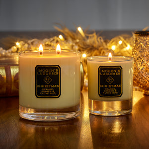 Christmas 2 Wick Candle: Orange, Cinnamon, Clove & Ginger