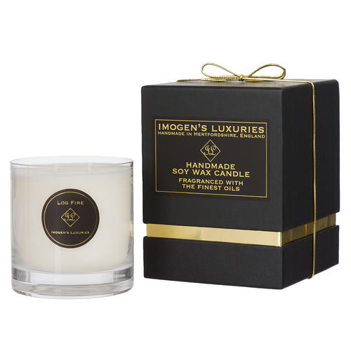 Log Fire 2 Wick Candle