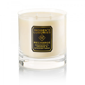 Recharge Home Candle: Grapefruit, Orange & Spanish Sage