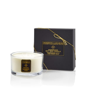 Revive 3 Wick Candle: Lemongrass, Grapefruit & Basil