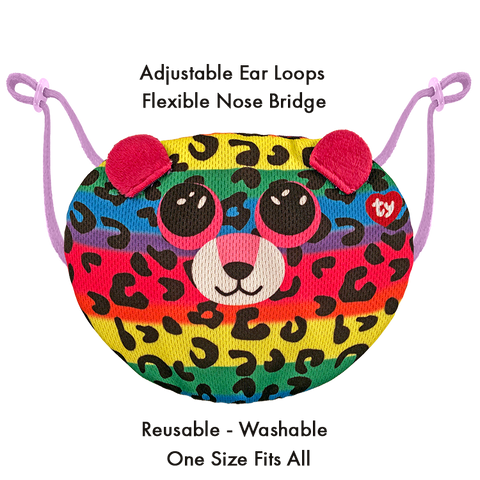 Kids TY Beanie Boo Face Mask - Dotty