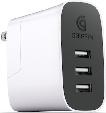 Griffin PowerBlock 3 Port Travel Charger