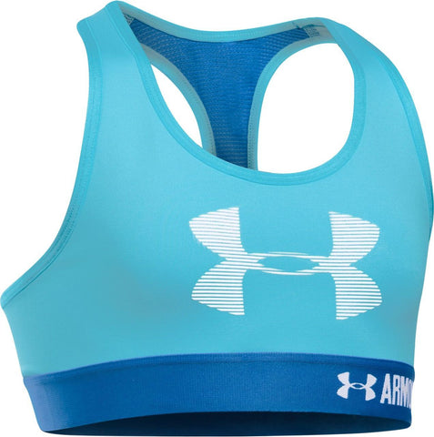 Under Armour Girls' HeatGear Armour Graphic Sports Bra Size YSM (You Donate: $1.00)