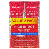 Colgate Optic White High Impact White Whitening Toothpaste - 3 ounce (2 pack)