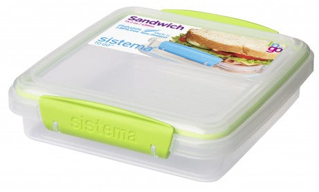 Sistema To Go Collection Sandwich Box Food Storage Container, 15.2 oz - GREEN