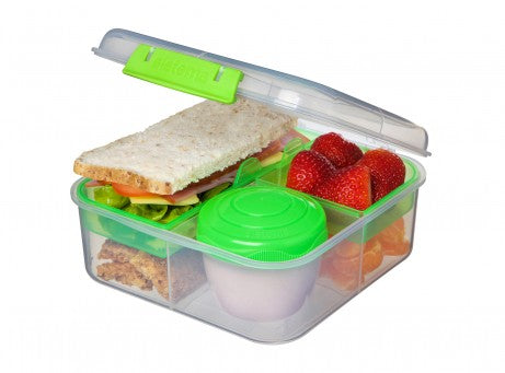 Sistema To Go  Bento Box Cube Plastic Lunch and Food Storage - PINK