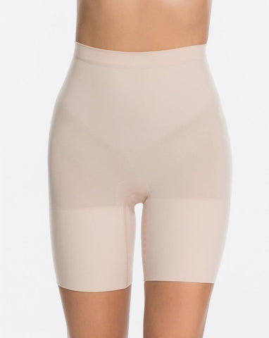 Spanx Power Short / LARGE Soft Nude