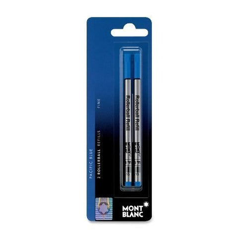 Montblanc Refills, Rollerball, Fine Point, Pacific Blue, Pack Of 2 (You Donate: $2.50)