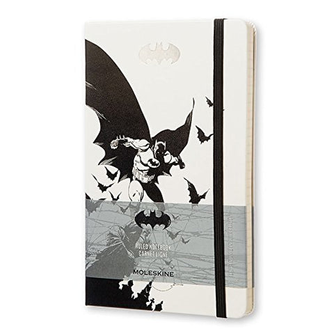 Moleskine Batman Limited Edition Notebook, Large, Ruled, White, Hard Cover (You Donate: $2.50)