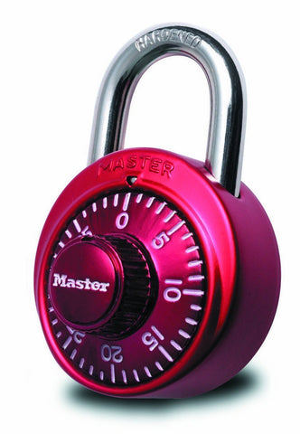 Master Lock 1530DCM Combination Lock - Red