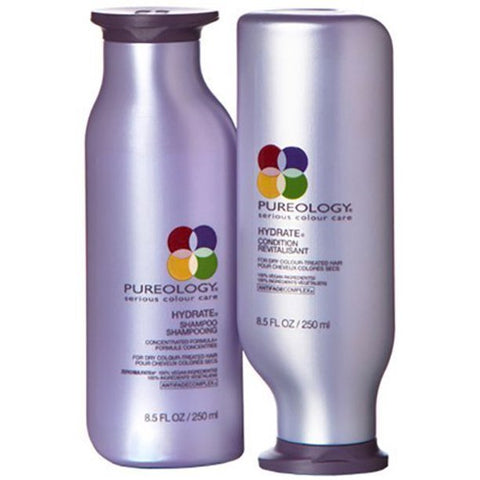 Pureology Hydrate Moisturizing Shampoo and Conditioner | For Medium to Thick Dry, Color Treated Hair | Sulfate-Free | Vegan