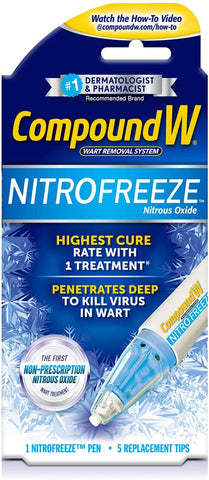 Compound W Nitrofreeze | Wart Removal | 1 Pen & 5 Replaceable Tips