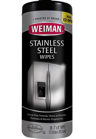 Weiman Stainless Steel Canister Wipes, 30 count