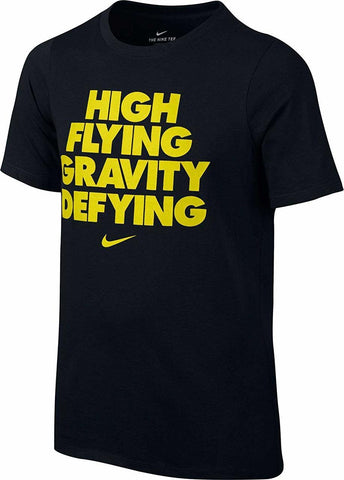Nike High Flying Graphic T-Shirt Black/Electrolime Boys' Size L (You Donate:  $2.00)