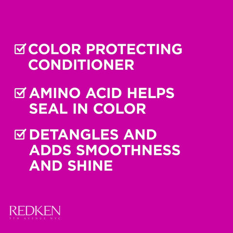 Redken Color Extend Magnetics Conditioner | For Color Treated Hair | Protects Color & Adds Shine | With Amino Acid | Sulfate-Free 8.5 fl