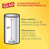 Glad ForceFlex Tall Kitchen Drawstring Trash Bags – 13 Gallon White Trash Bag, Gain Original scent with Febreze Freshness – 40 Count (Package May Vary)