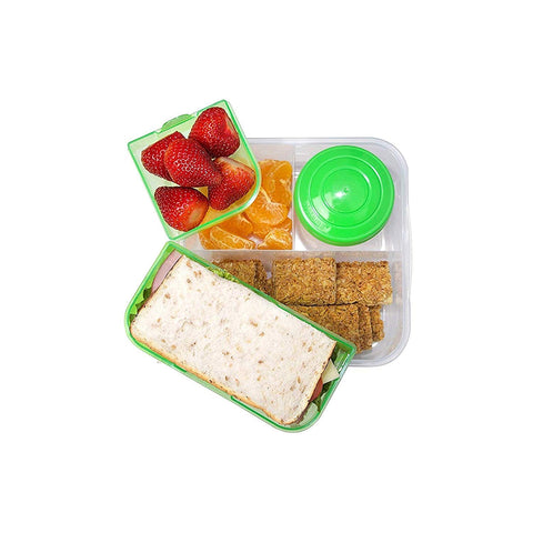 Sistema To Go  Bento Box Cube Plastic Lunch and Food Storage - PURPLE