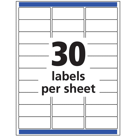 Avery 18160 Mailing Address Labels, Laser & Inkjet Printers, 300 Labels, 1 x 2-5/8, Permanent Adhesive, White