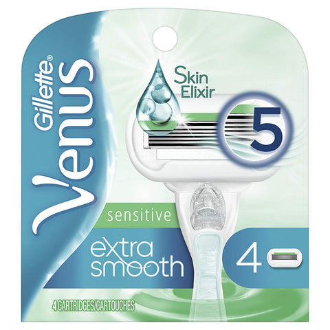 Gillette Venus Extra Smooth Sensitive Women's Razor Blades - 4 Count Refills