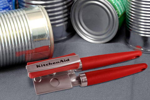 KitchenAid Gourmet Soft Grip Can Opener with Magnet, Red