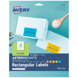 "Avery Astrobrights Labels for Laser & Inkjet Printers, Assorted Colors, 2"" x 2-5/8"", 150 Labels (4331)"