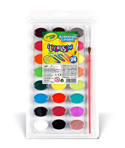 Crayola® Watercolor Paints with Brush Washable 24ct